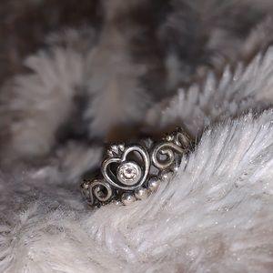PANDORA RING - Princess tiara crown ring